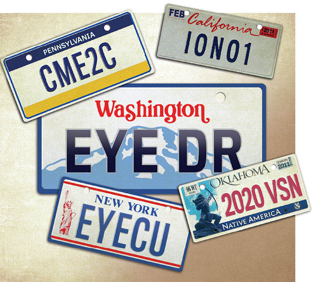 license plates for eye doctors