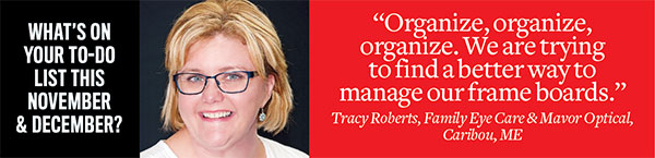 Tracy Roberts to-do for November