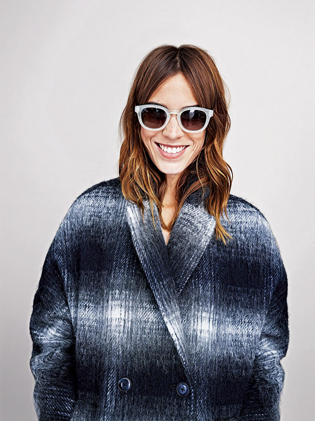Alexa Chung in Tommy Hilfiger sunglasses