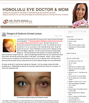 Halloween blog from Honolulu Eye Clinic