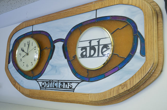 Spectacle clock at Able Opticians