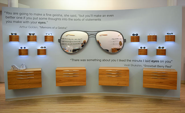 Cool sunglass mirror from Providence Optical