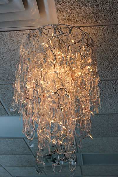 Eyeglass  chandelier from Southern Tier Optometry