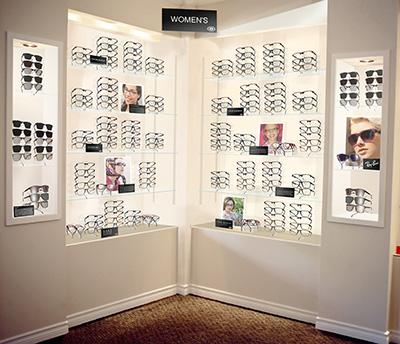 Eyewear displays at 20/twenty Optical