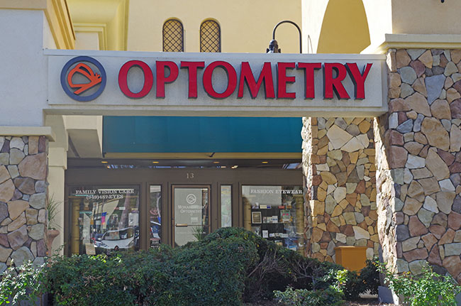 Monarch Bay Optometry exterior signage