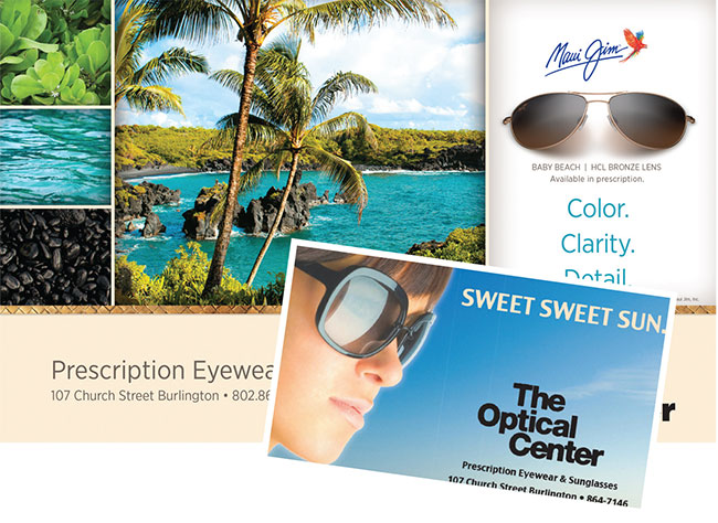 The Optical Center self-designed sunwear ads