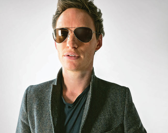 Oscar winner Eddie Redmayne in Flexon sunglasses
