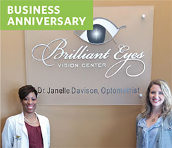 Eyecare business anniversary Brilliant Eyes Vision Center