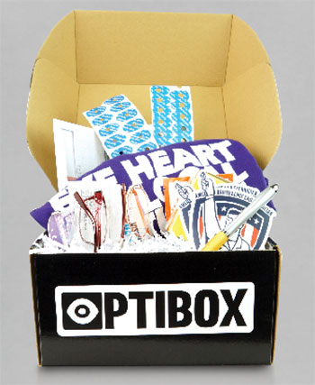 Optibox sends you promo material