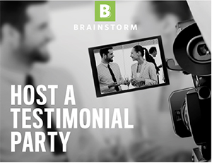 Host a video testimonial event in your store or practice