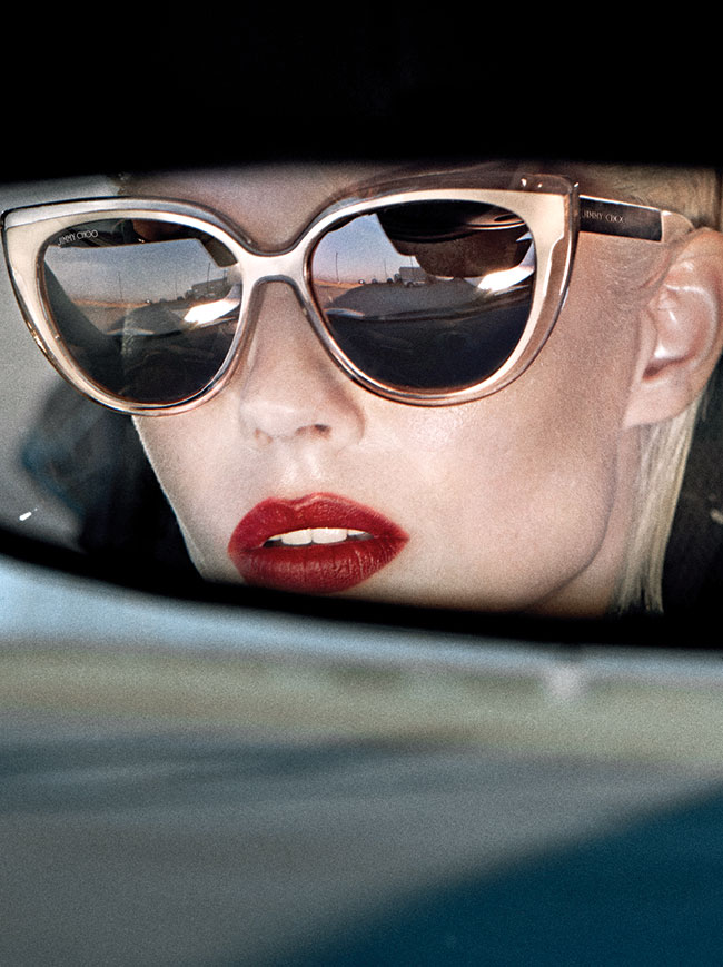 Cindy sunglasses from Jimmy Choo, worn by Ondria Hardin