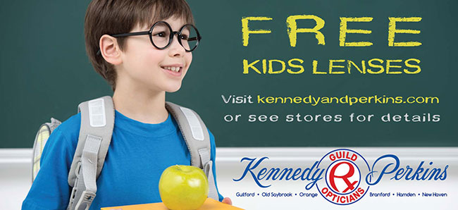 Back to school ad from Kennedy & Perkins opticians