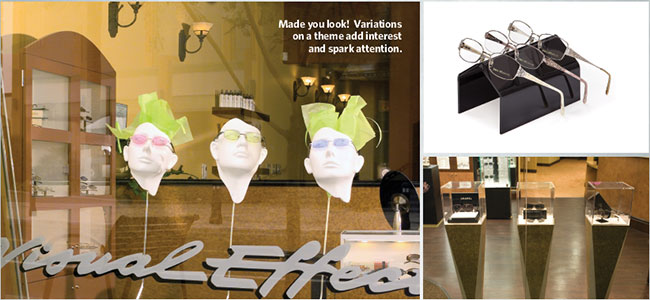 Examples of displays for optical retailers