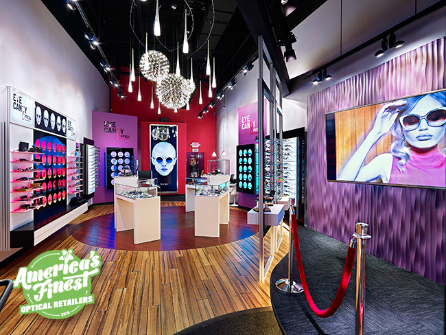 Interior of Eye Candy Optical, one of America's Finest optical retailers for 2015