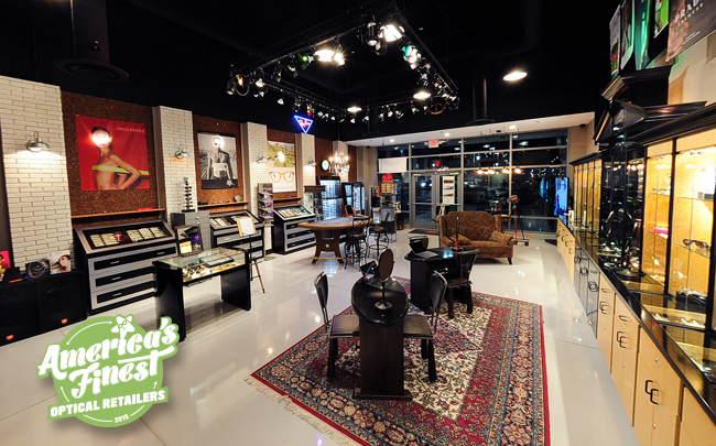Interior of Eyes & Optics, one of America's Finest optical retailers for 2015