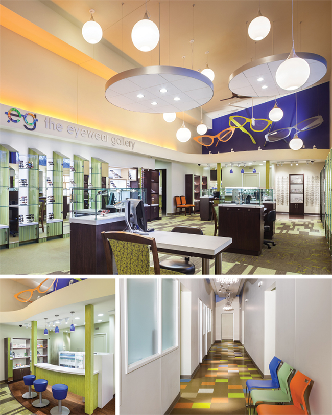 Interior of LaFollette Eye Clinic & The Eyewear Gallery, one of America's Finest optical retailers for 2015
