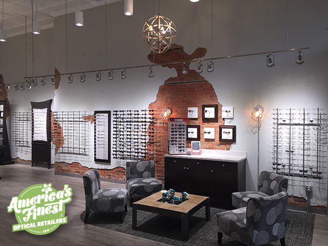 Interior of Paris Optical, one of America's Finest optical retailers for 2015