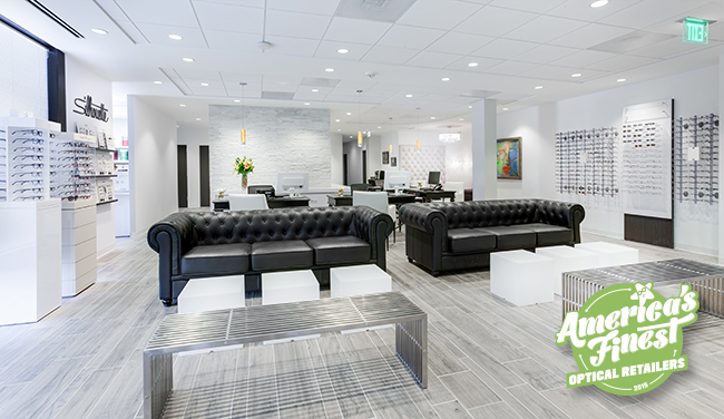 Interior of Shady Grove Eye & Vision Care, one of America's Finest optical retailers for 2015