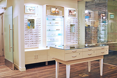 The interior of U See LA Optometry