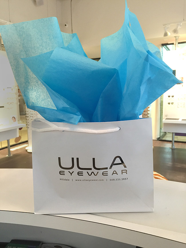 Shopping bags from Ulla Eyewear