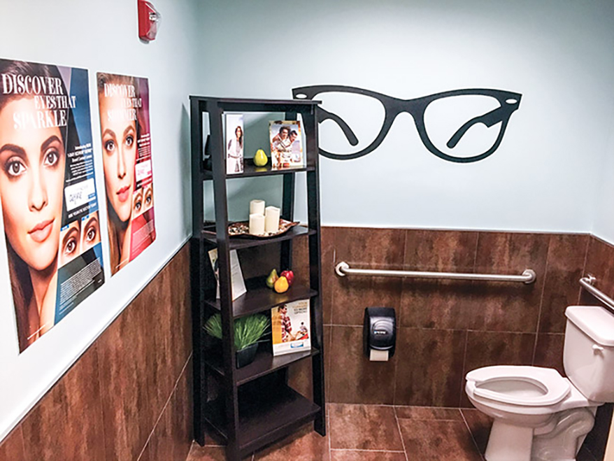 Bathroom at Vision Source-Fox Optical