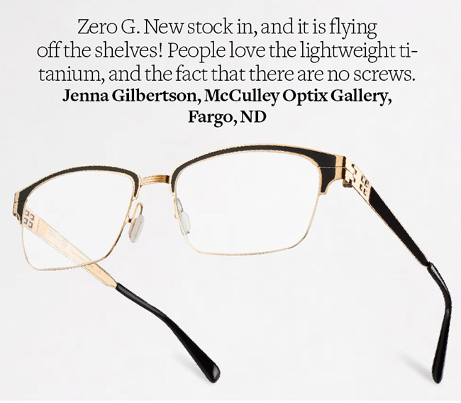 Lake George eyeglasses from Zero G