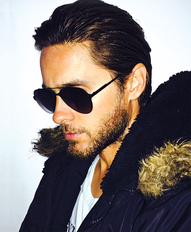 Jared Leto in Carrera sunglasses