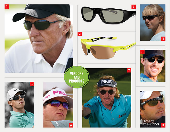 Golf-specific eyewear and lenses