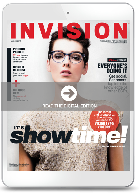 March 2017 cover of INVISION