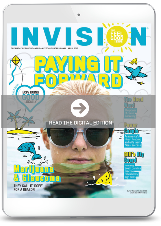 April 2017 cover of INVISION