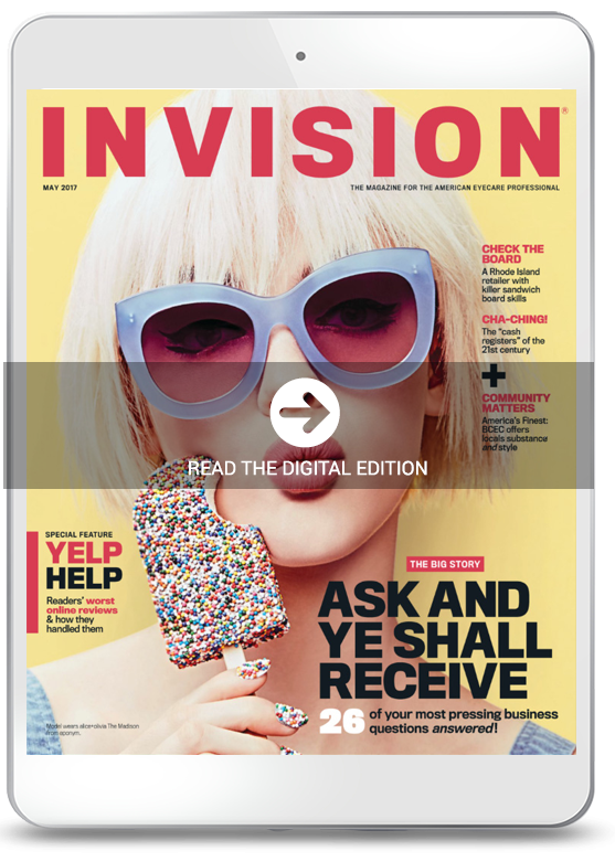 May 2017 cover of INVISION