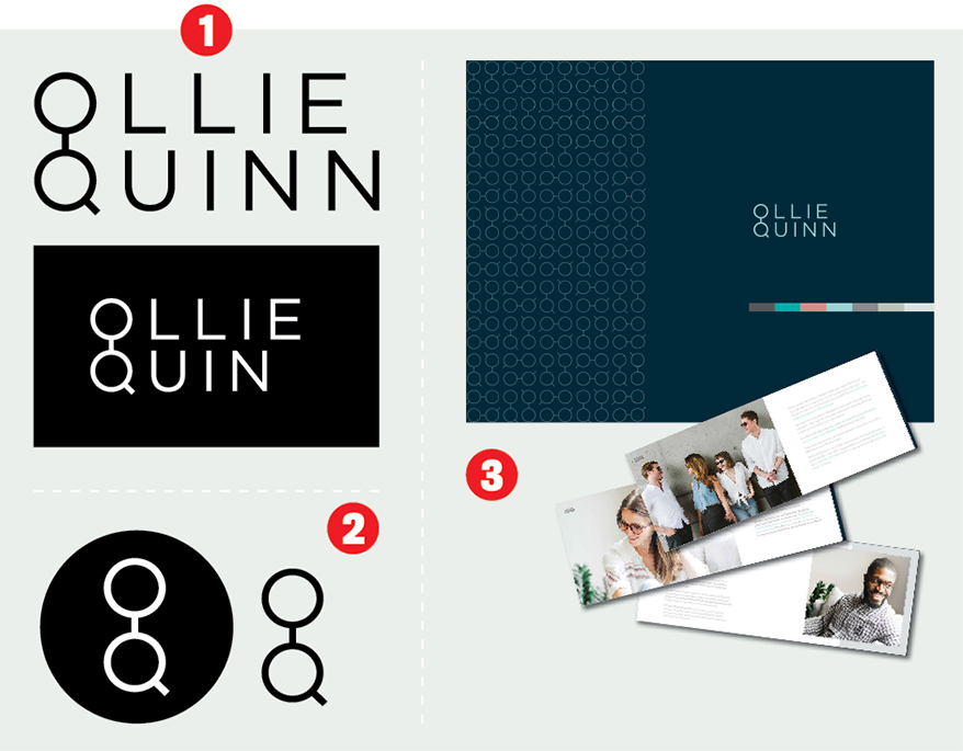 Check Out How Ollie Quinn Branding Elements Work Together to Maintain a Seamless Look in 3 Countries