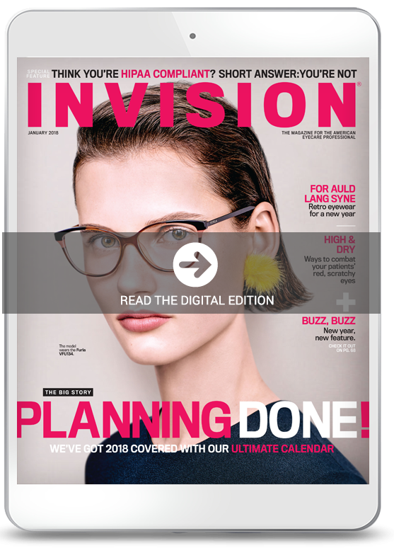 January 2018 cover of INVISION