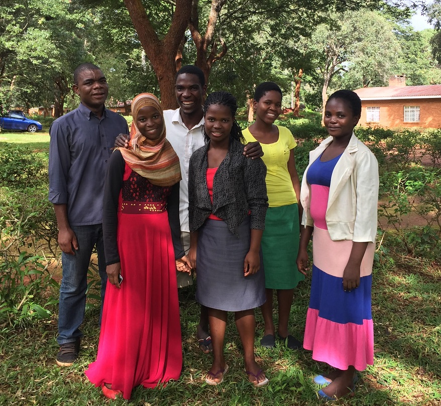 INVISION Malawi Student Loans2 recipients from left to right Adson Mitochi Mariam Aliya Gibson Nkhwekwe Kettie Lozario Tambuzai Liyo and Thandiwe Nyirenda