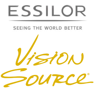 Essilor and Vision Source logos