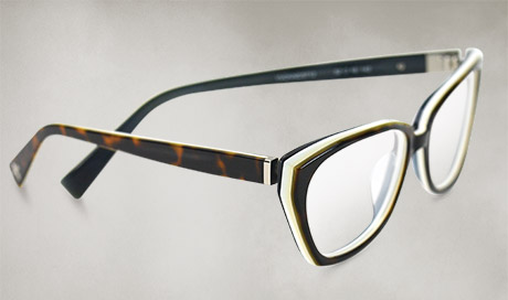 f84b20b7672 SERAPHIN EYEWEAR Cheerful slices of color bring classic neutrals to life  with Yvonne