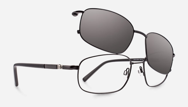 for women easyclip model ec320 is a stainless steel frame with a magnetic sun - Easy Clip Frames