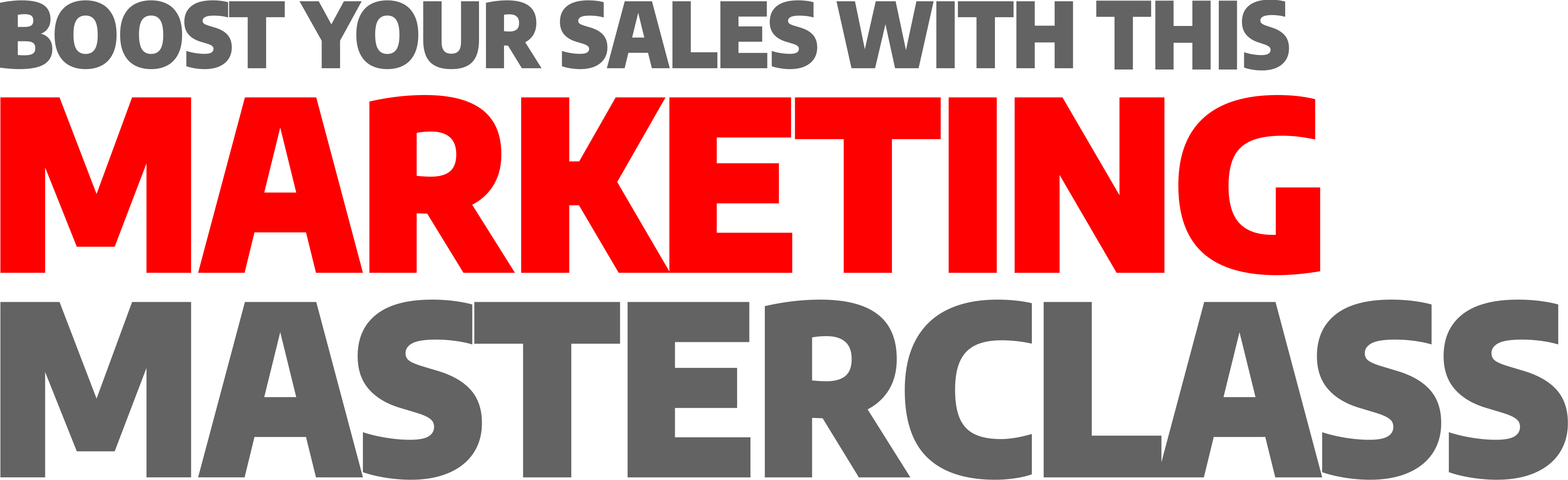 Boost Your Sales with our Marketing Masterclass