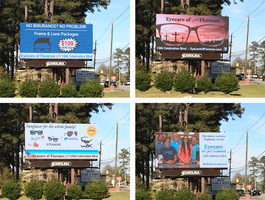 South Carolina Optometrist Gets Local Attention With Digital Billboard