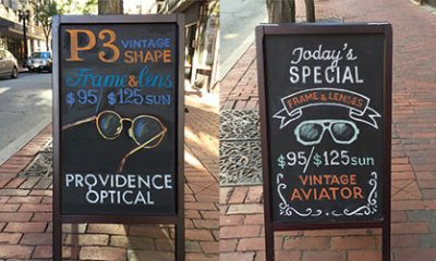 This Business's Sandwich Boards Whip Up Its Customers' Appetites For Eyewear