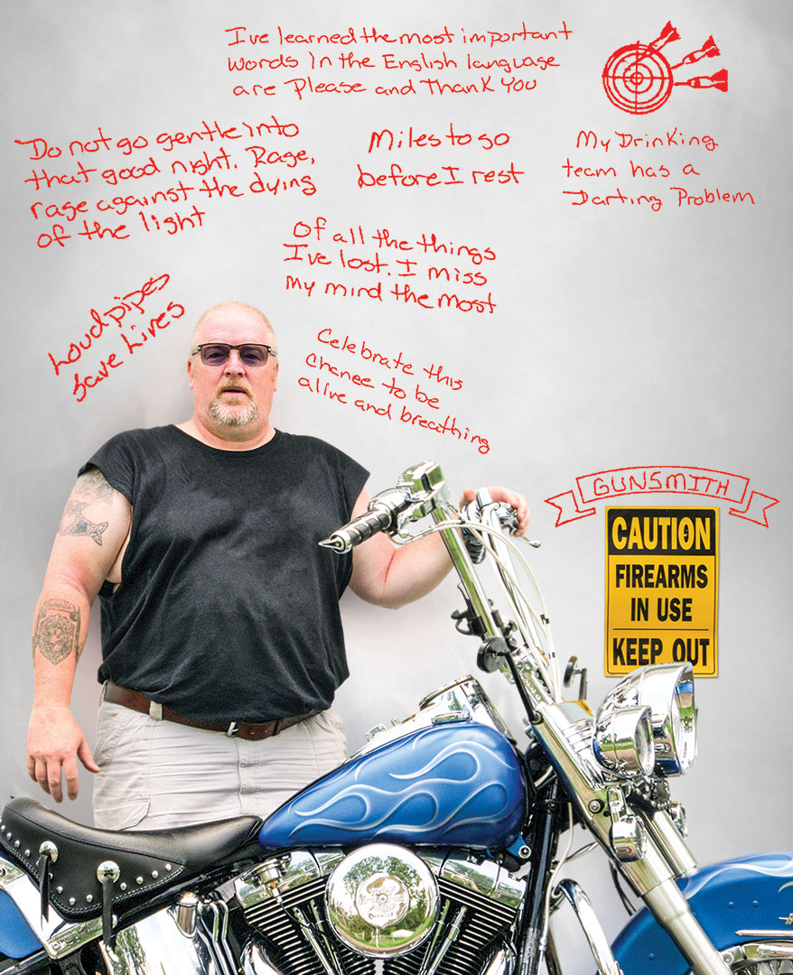 Motorcycles, Guns and Glasses, Dave Goodrich is the Poetry Quoting Optician