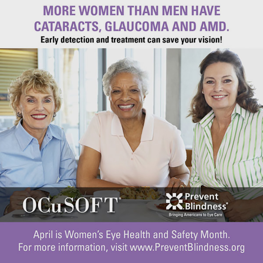 Prevent Blindness Proclaims April as Women's Eye Health and Safety Month
