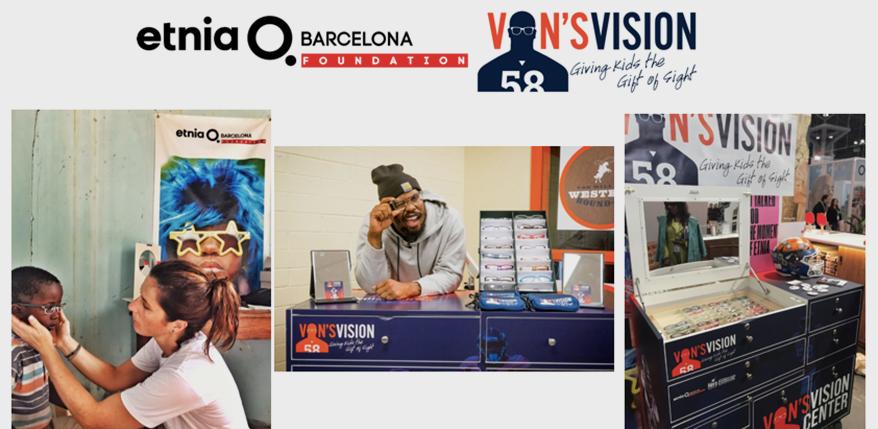 Etnia Barcelona Foundation Partners with Von Miller's Vision Foundation