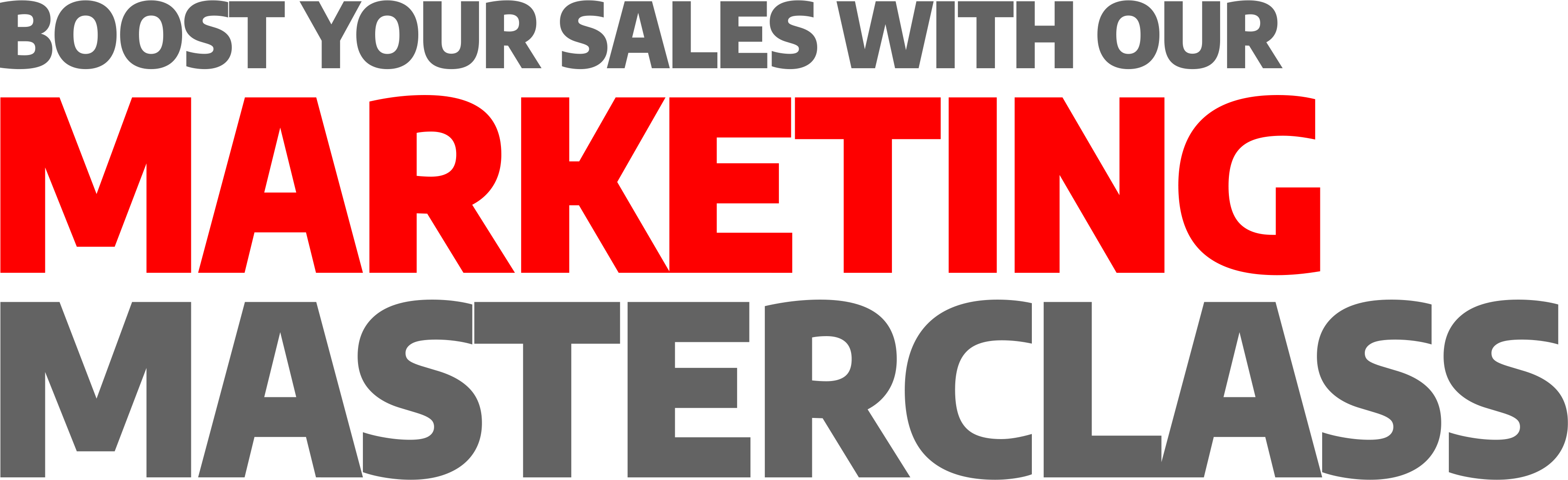 Boost Your Sales with our Marketing Masterclass (Download Page)