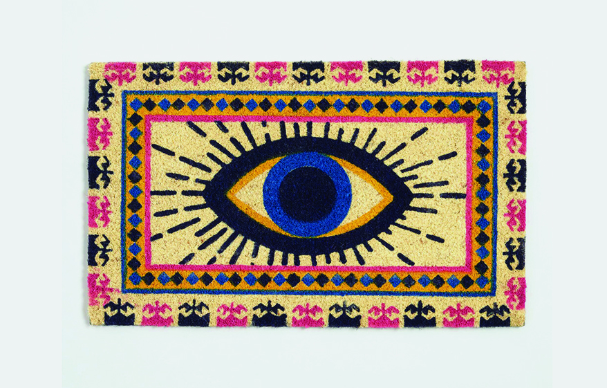 Evil Eye Coir Doormat from World Market