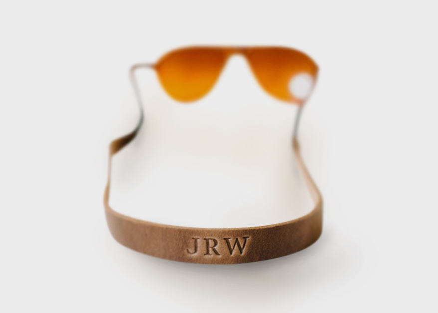 Clayton qnd Crume handmade leather sunglass straps