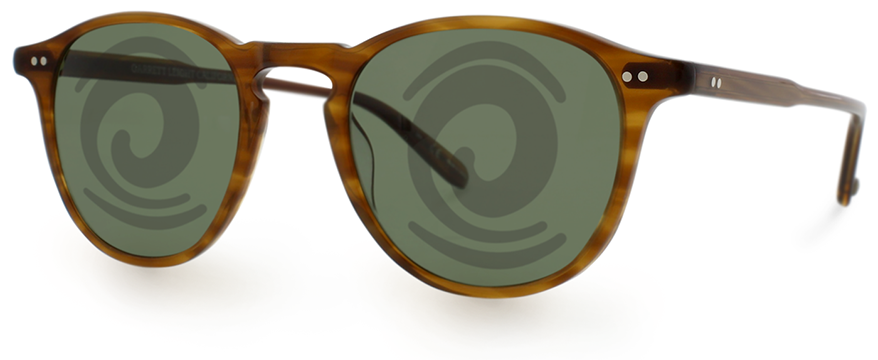 Garrett Leight sunglasses with a Malbon breath logo