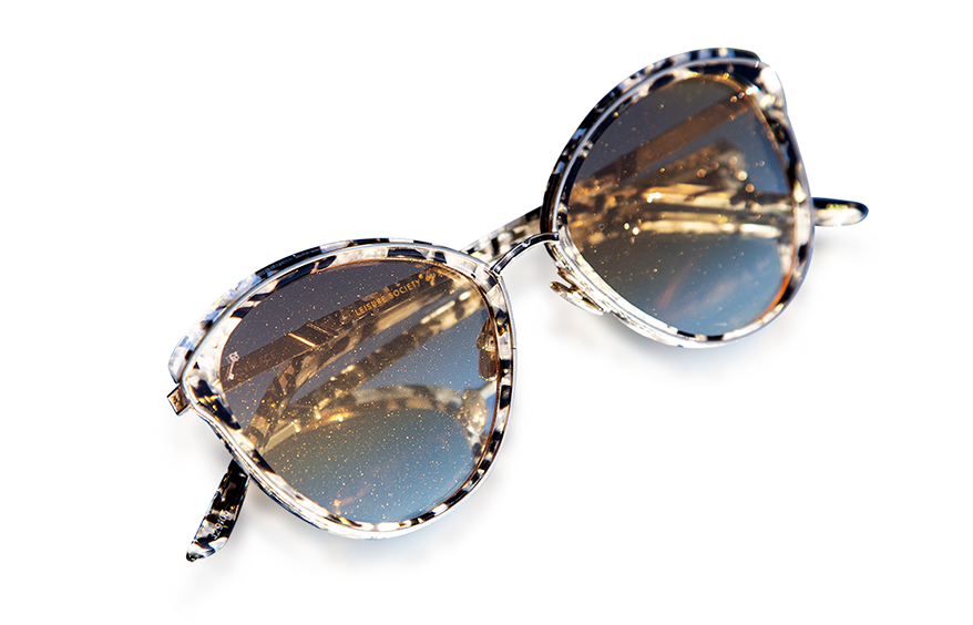 Leisure Society sunglasses with yellow gradient Stardust lenses
