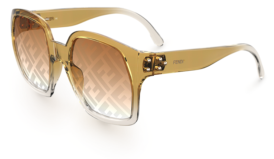 Safilo sunglasses sun with metal-studded temples