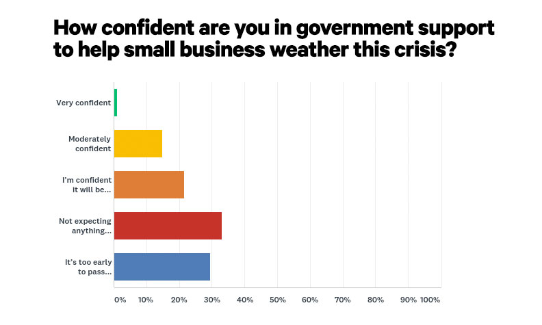Survey results government support COVID-19